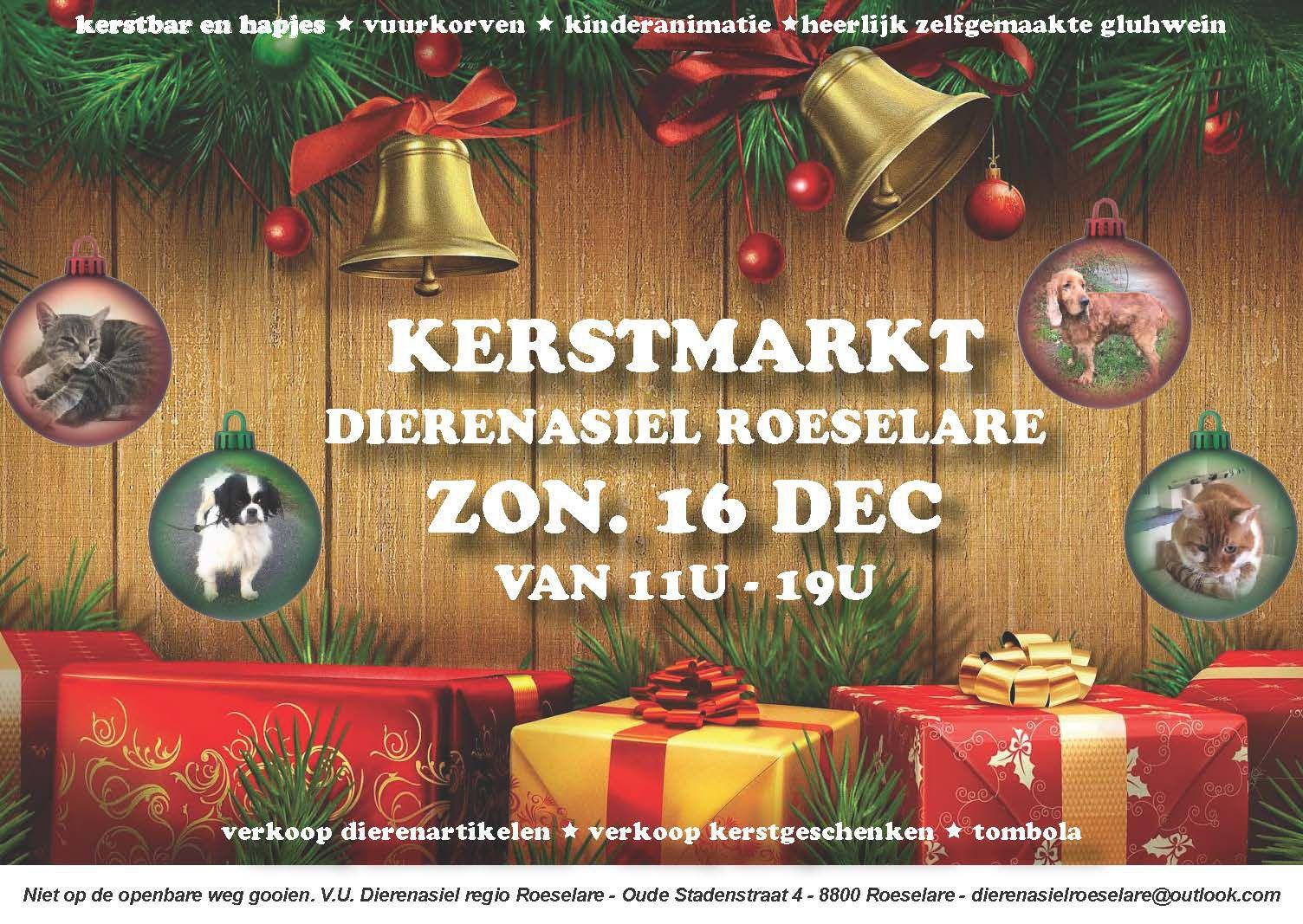 Kerstmarkt Dierenasiel Roeselare Weerwerk
